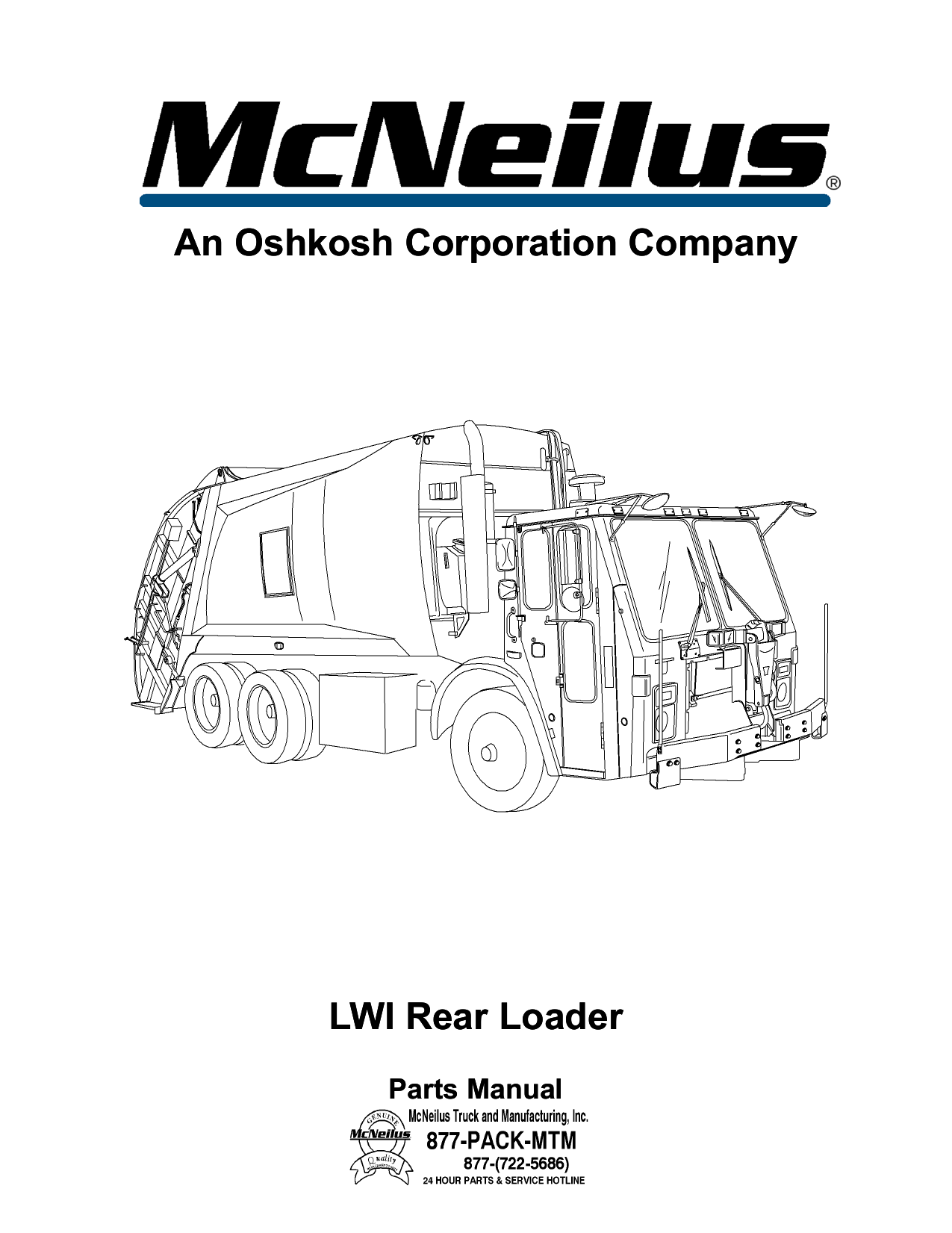 An Oshkosh Corporation Company LWI Rear Loader An