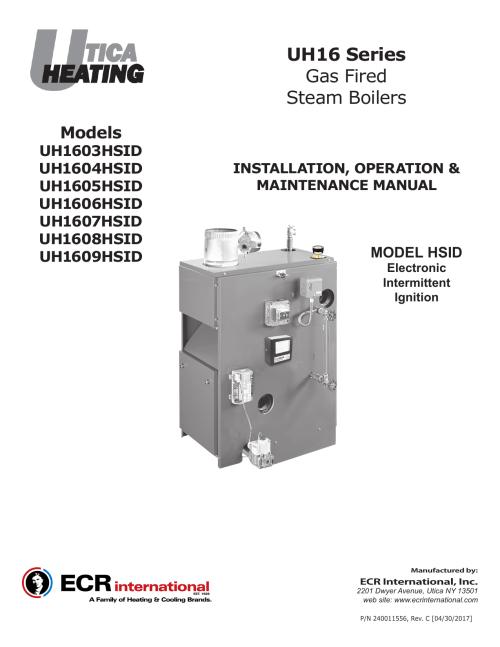 small resolution of utica heating 16 series iom rev c
