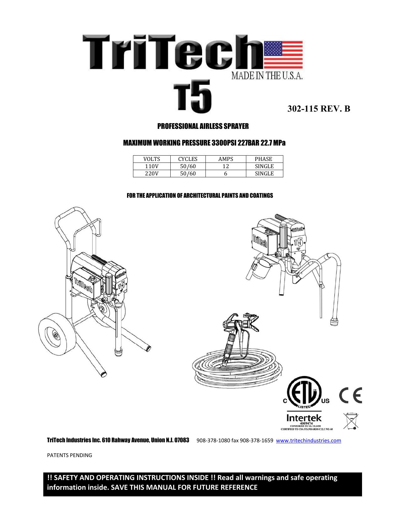 hight resolution of t5 sprayer manual tritech industries