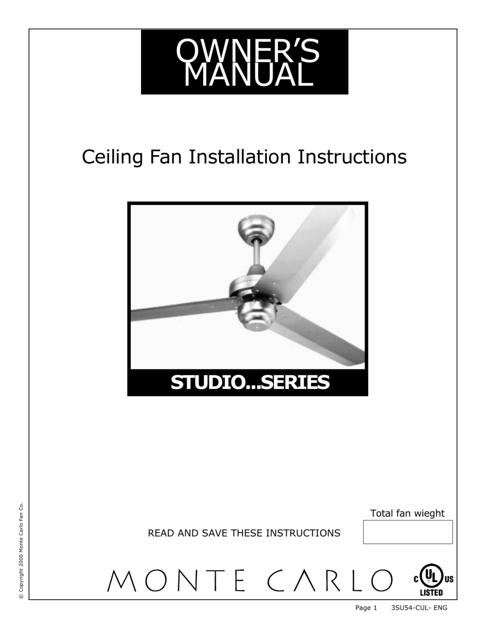 medium resolution of owner s manual monte carlo fans