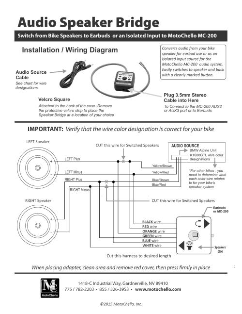 small resolution of speaker bridge install diagram