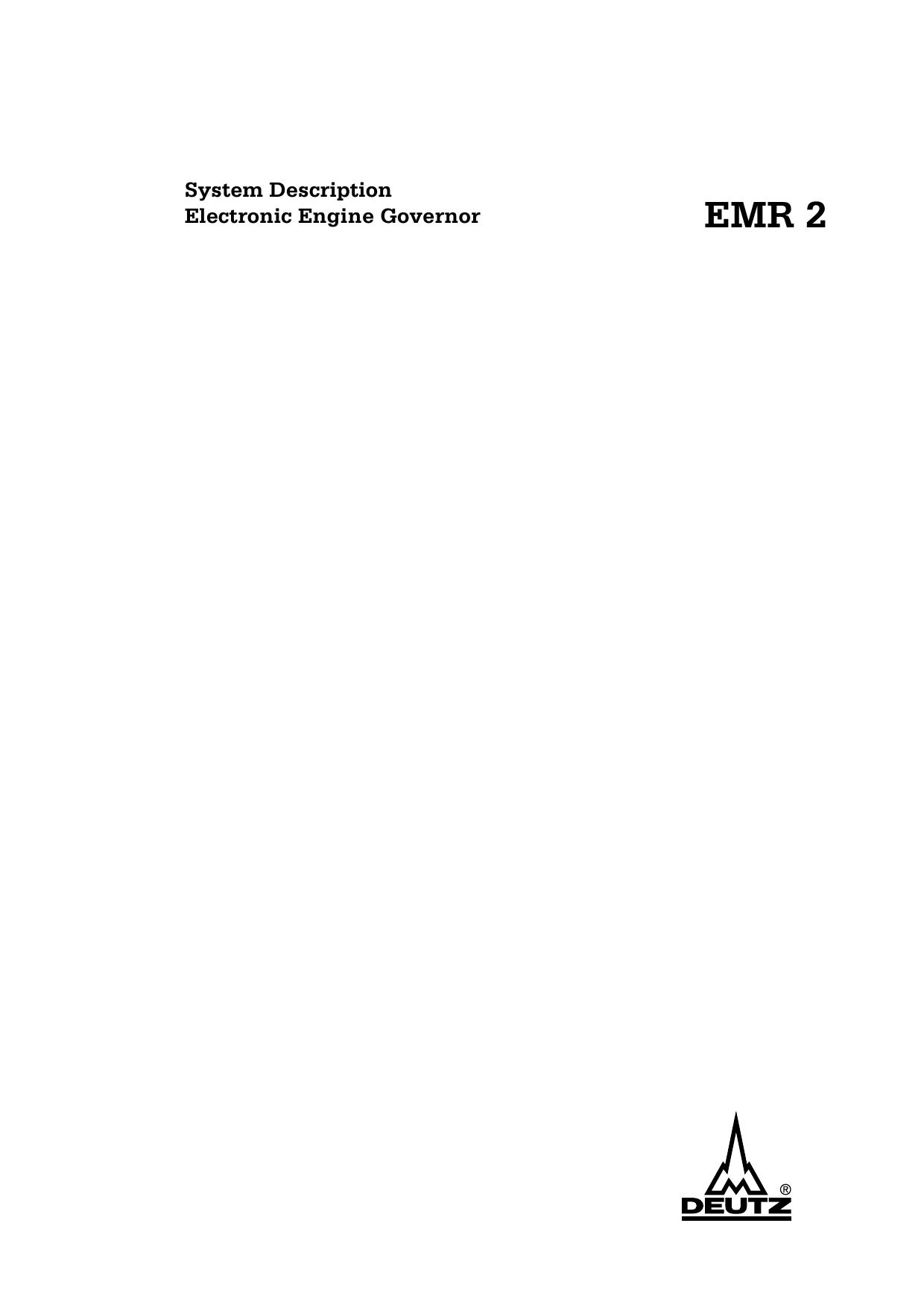 deutz emr2 wiring diagram 89 nissan 240sx system description electronic engine governor manualzz com