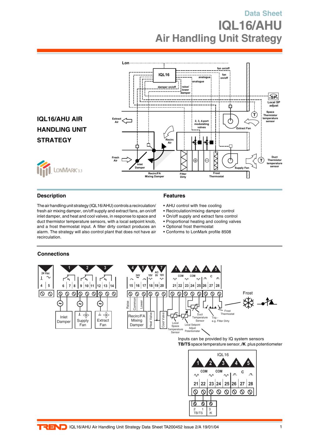 medium resolution of iql16 ahu air handling unit strategy data sheet