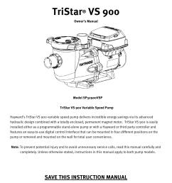 tristar vs 900 hayward pool products manualzz com on pentair superflo pump hayward pump wiring diagram  [ 1275 x 1651 Pixel ]