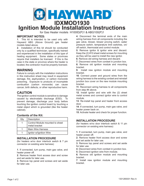 small resolution of ignition module installation instructions idxmod1930