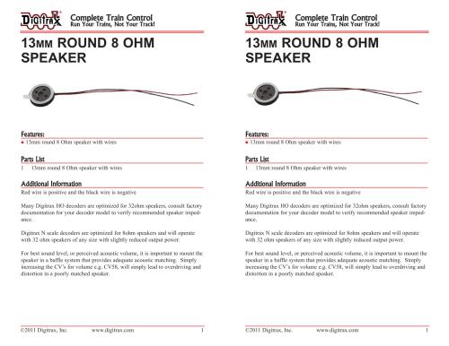 small resolution of 13mm round 8 ohm speaker speake