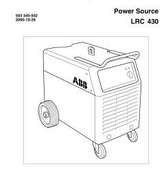 product manual spare parts list power source lrc 430 [ 1240 x 1755 Pixel ]