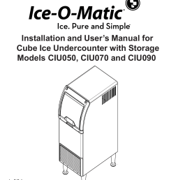 installation and user s manual for cube ice ice o [ 1275 x 1651 Pixel ]