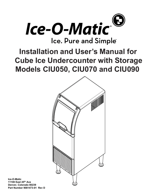 small resolution of installation and user s manual for cube ice ice o