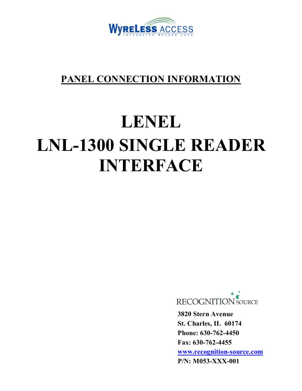 medium resolution of lenel lnl 1300 single reader interface