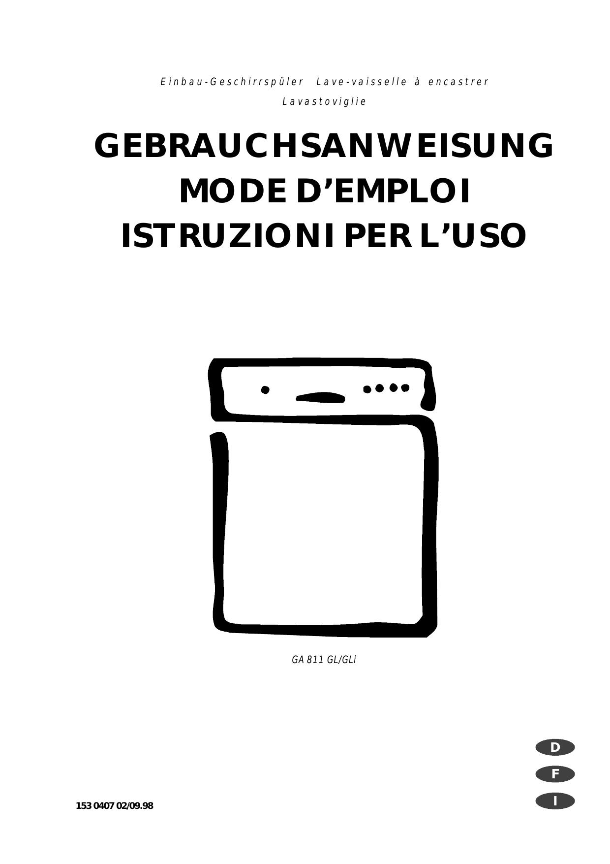 Electrolux Swissline L Geschirrspüler Reset