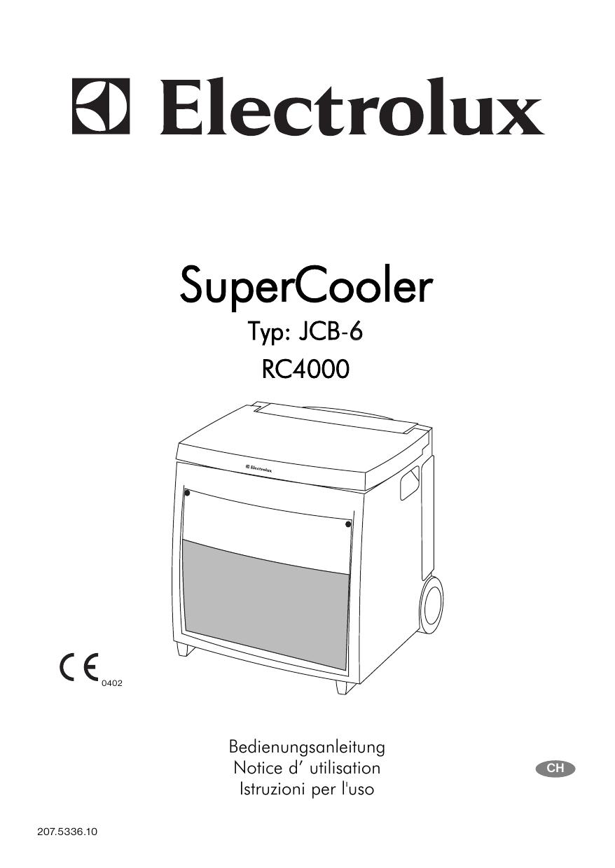 Electrolux Kühlbox Bedienungsanleitung