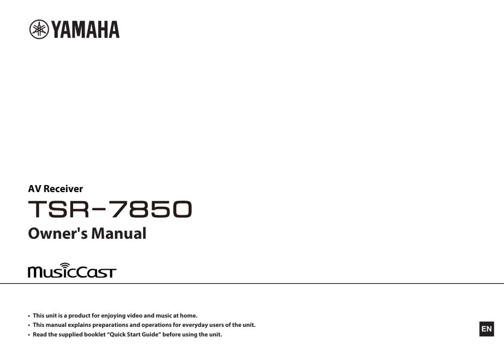 medium resolution of yamaha tsr 7850 owner s manual