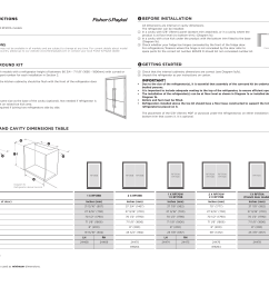 fisher paykel rf201adusx5 installation instructions diagrams [ 2579 x 1852 Pixel ]