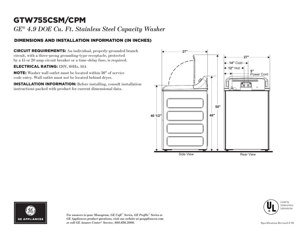 medium resolution of ge gtw755csmws specification sheet
