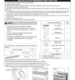 frigidaire ffre0633u1 wiring diagram installation instructions [ 857 x 1241 Pixel ]