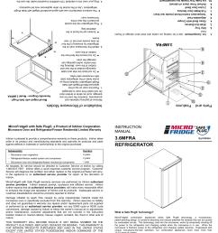 microfridge 3 6mf4a 7d1w instruction manual refrigerator [ 1651 x 2550 Pixel ]