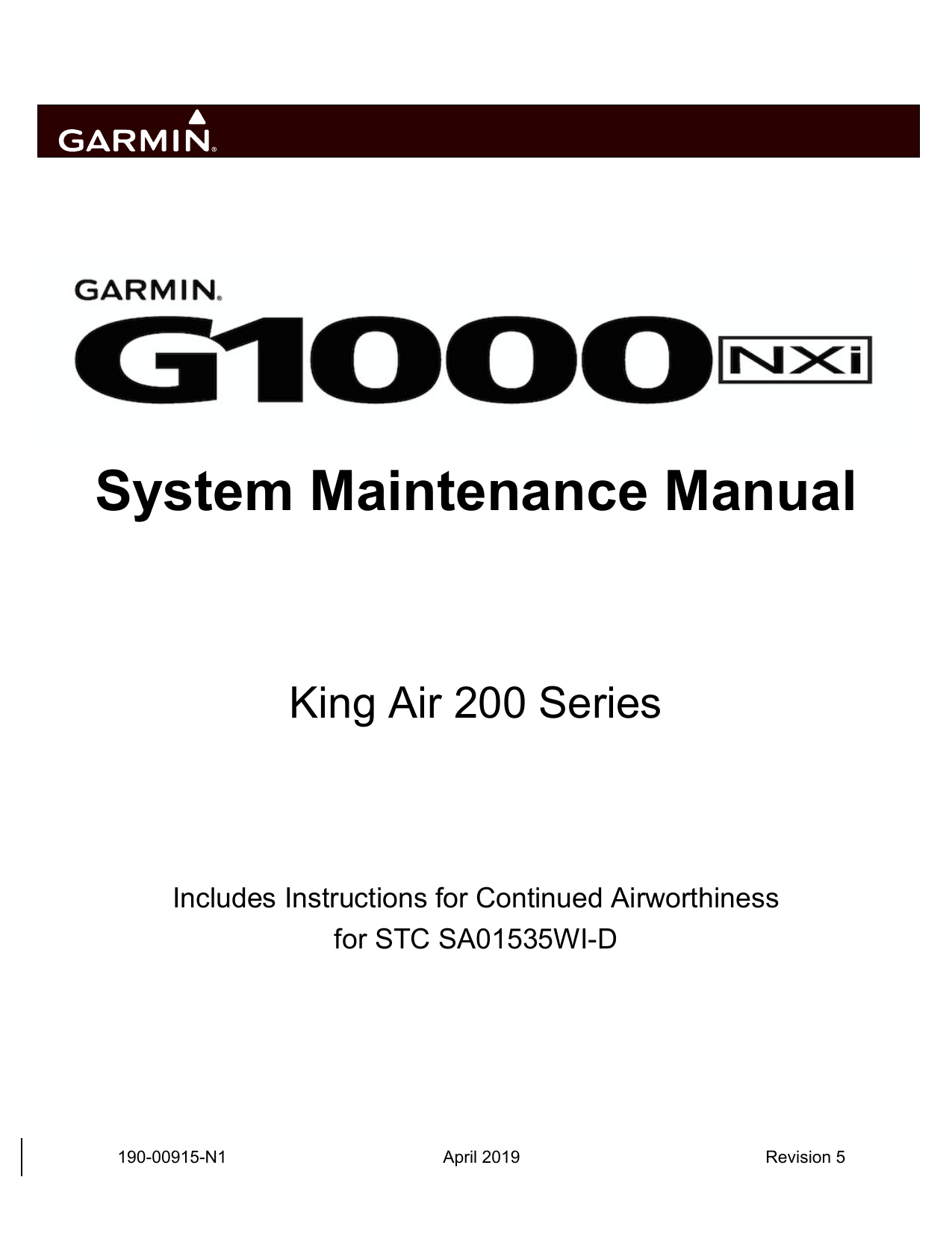Garmin G1000 NXi: Beechcraft King Air 200/B200 G1000 NXi