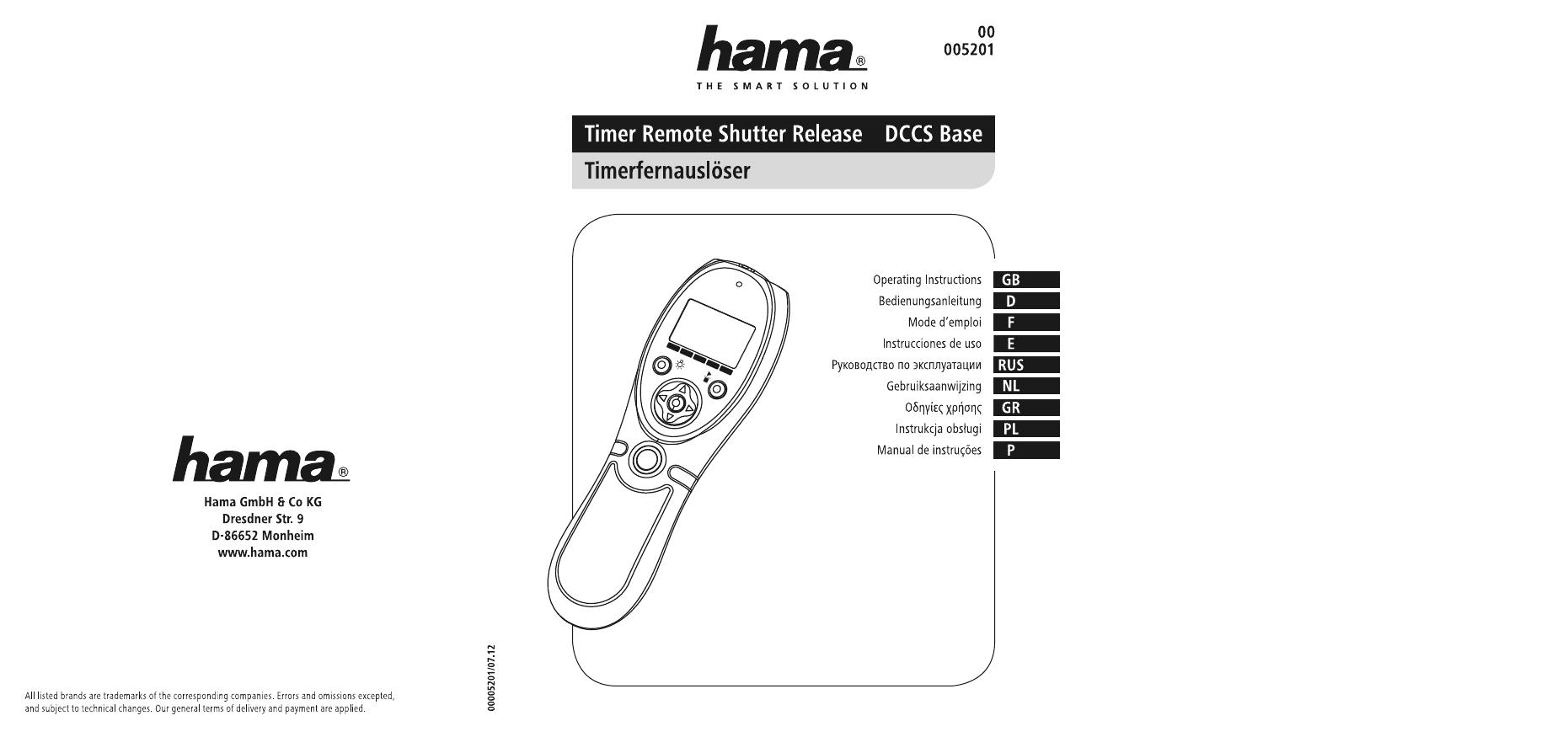 Hama 00005201 Timer Remote Release