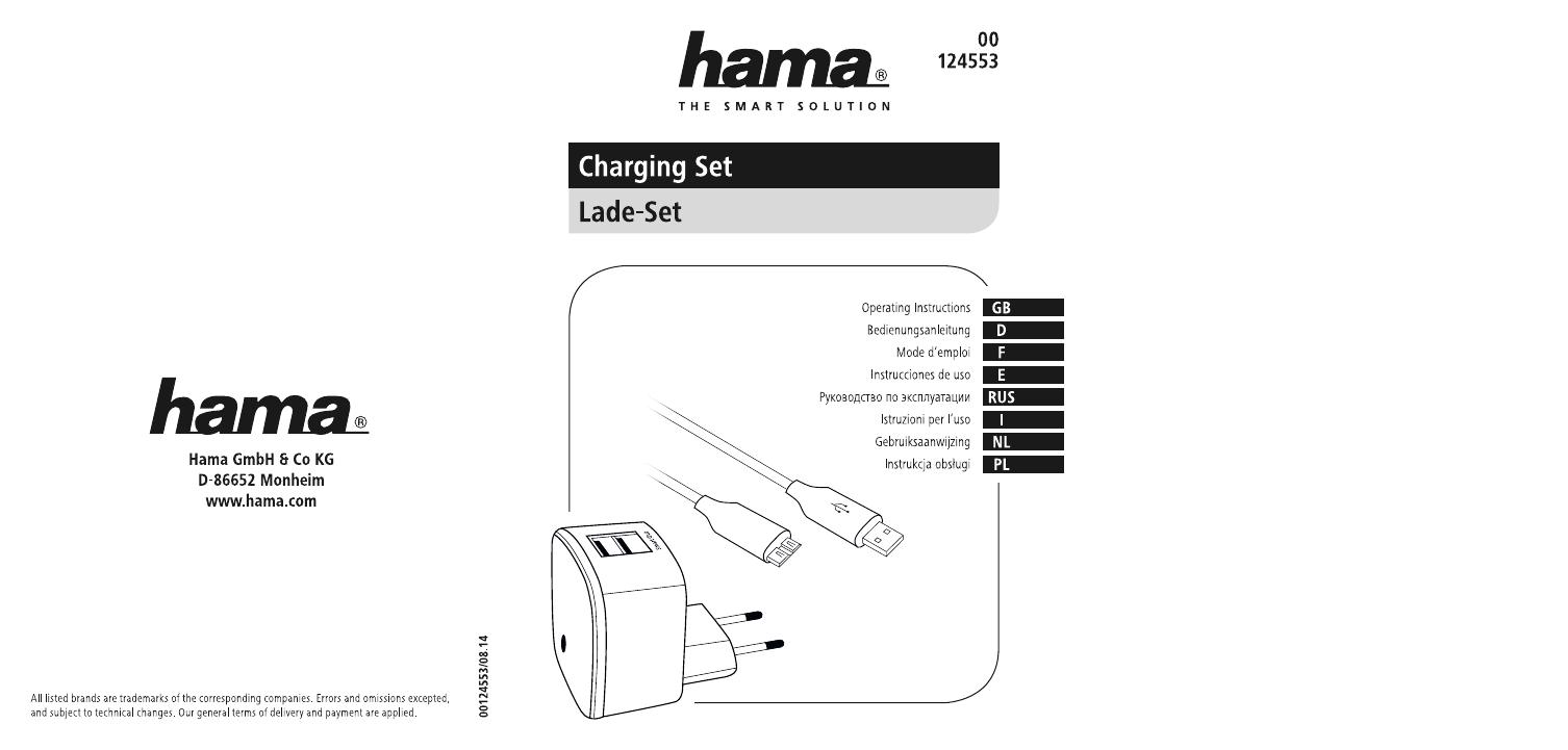 Hama 00124553 Charging Set, USB 3.0, 2x USB, 3.1 A