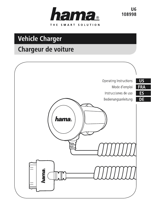 Hama U6108998 Vehicle Charger for Apple iPhone 3G/3GS/4/4S
