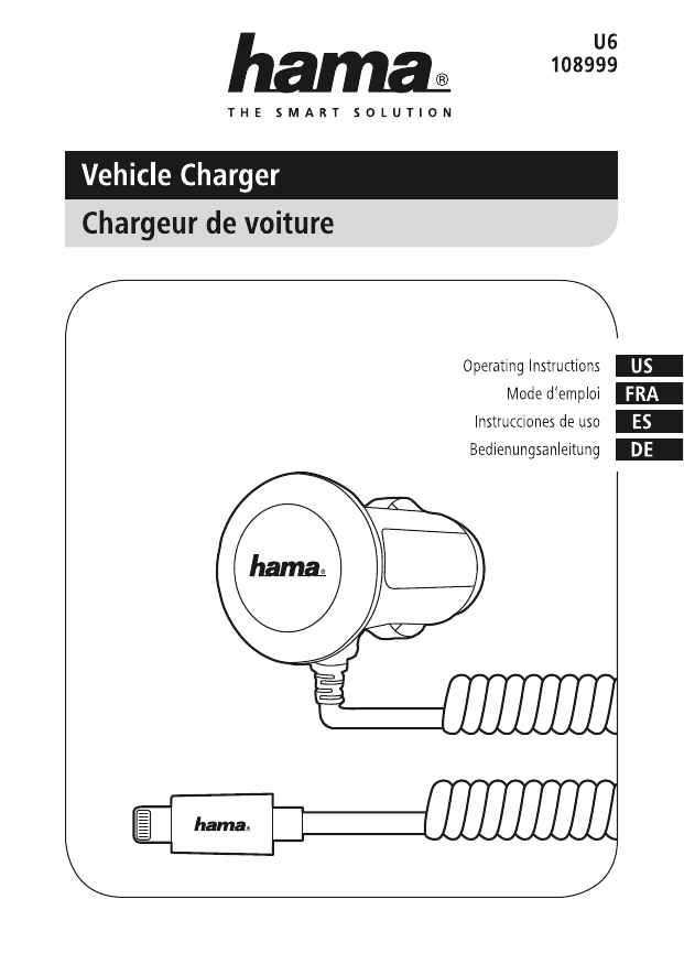 Hama U6108999 Vehicle Charger for Apple iPhone 5/5c/5s