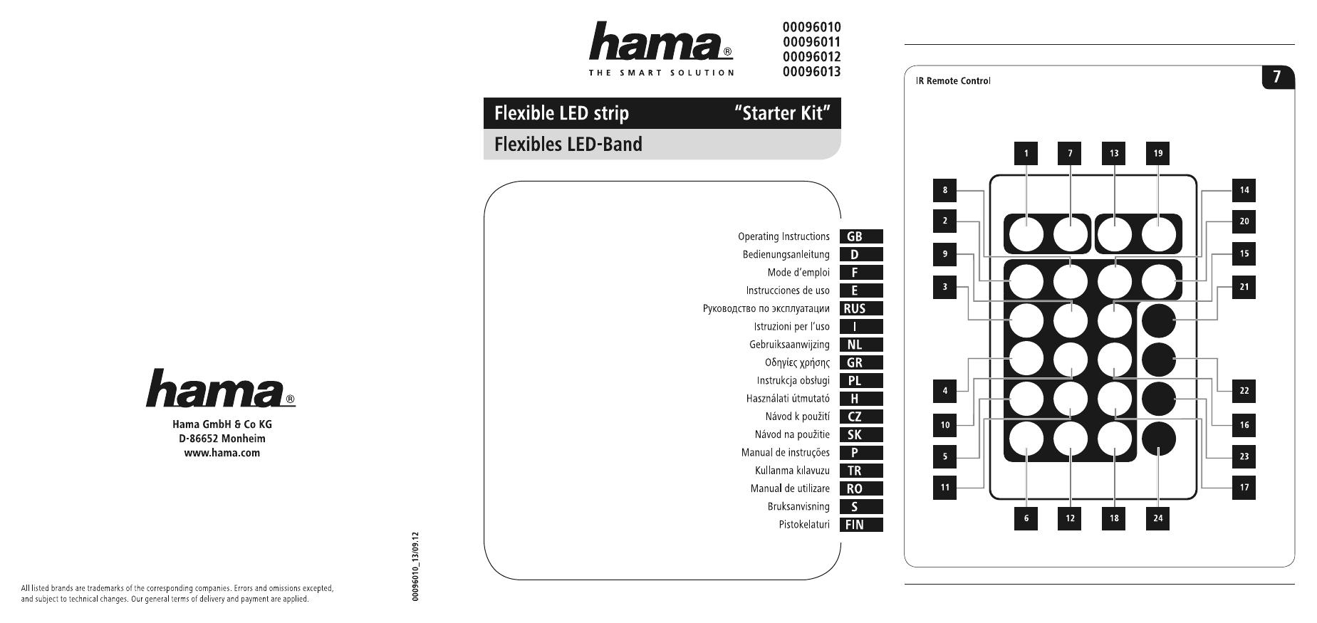 Hama 00096013 Flexible LED Strip RGB, extension set, 2.5 m