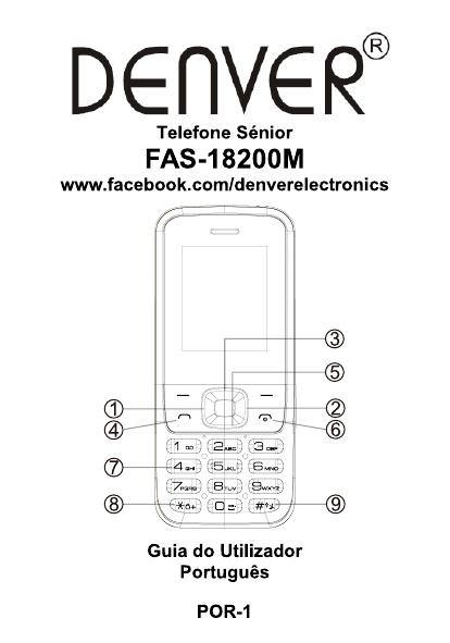 Denver FAS-18200M GSM feature phone Manual do usuário