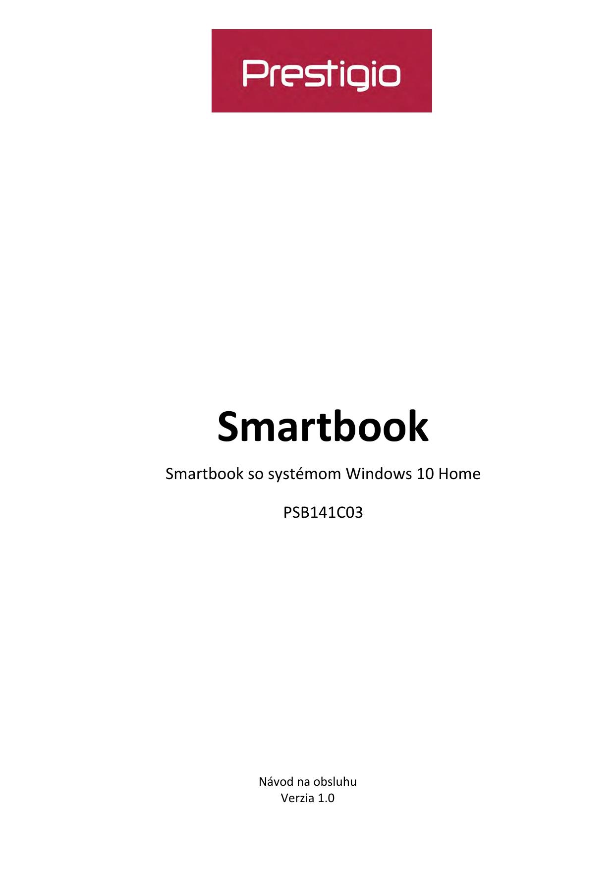 Prestigio Notebook Smartbook 141 C3 Používateľská príručka