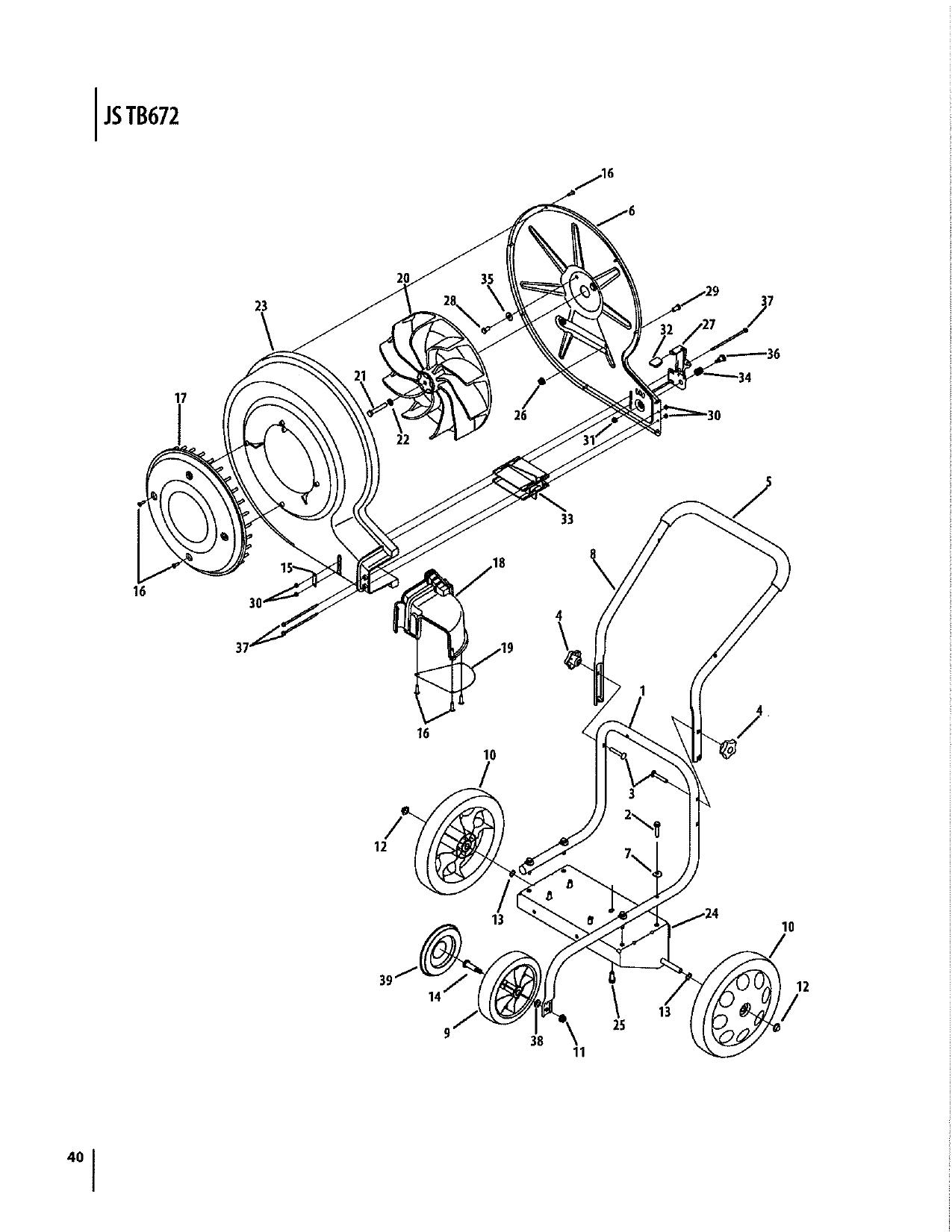 Troy-Bilt TB672 150 MPH 1000 CFM 208cc Walk-Behind Gas
