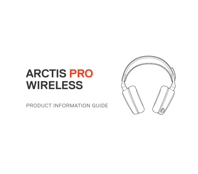 Steelseries Arctis Pro Wireless White (61474) User manual