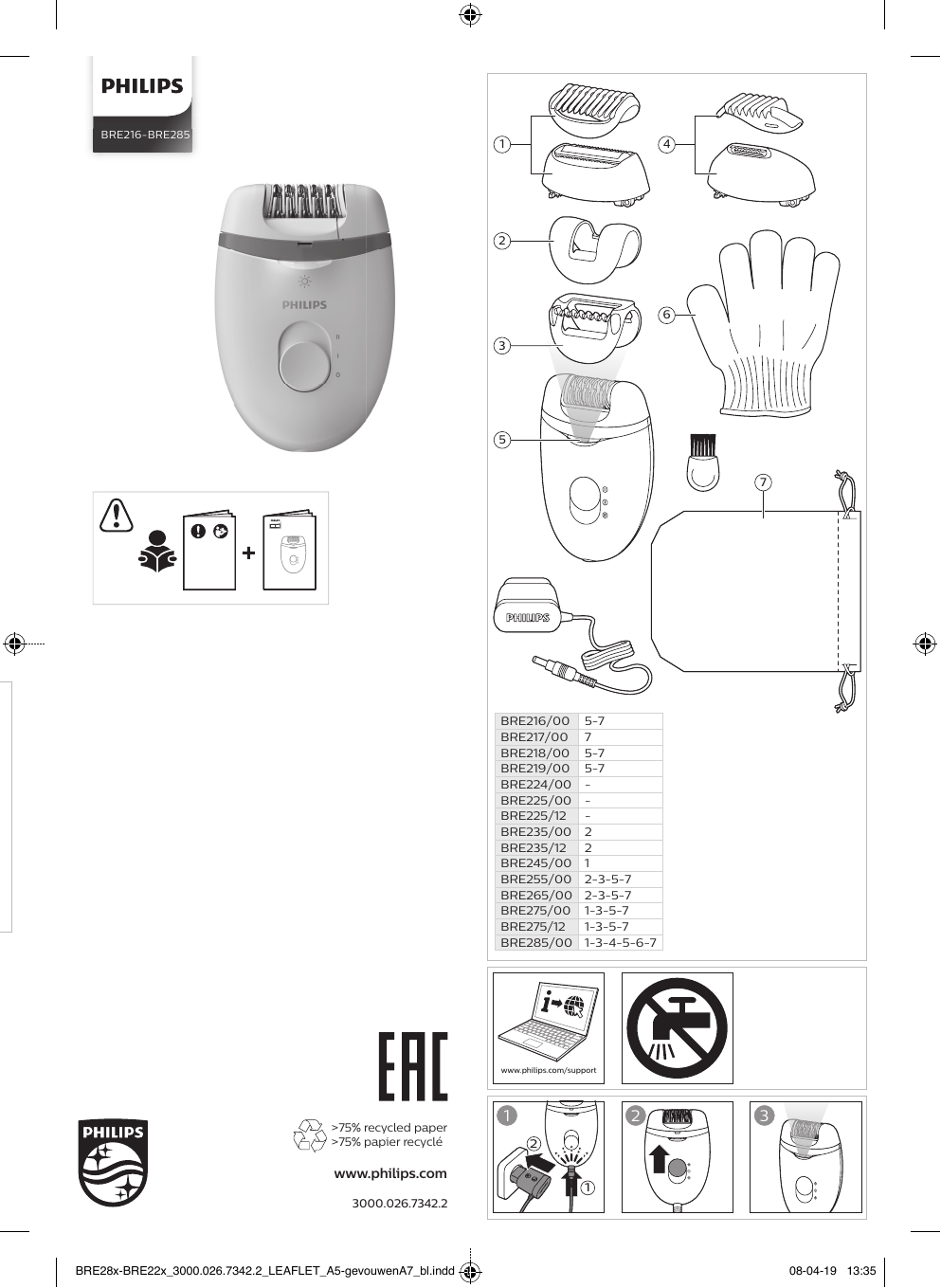 Philips Satinelle Essential BRP505/00 Ръководство за