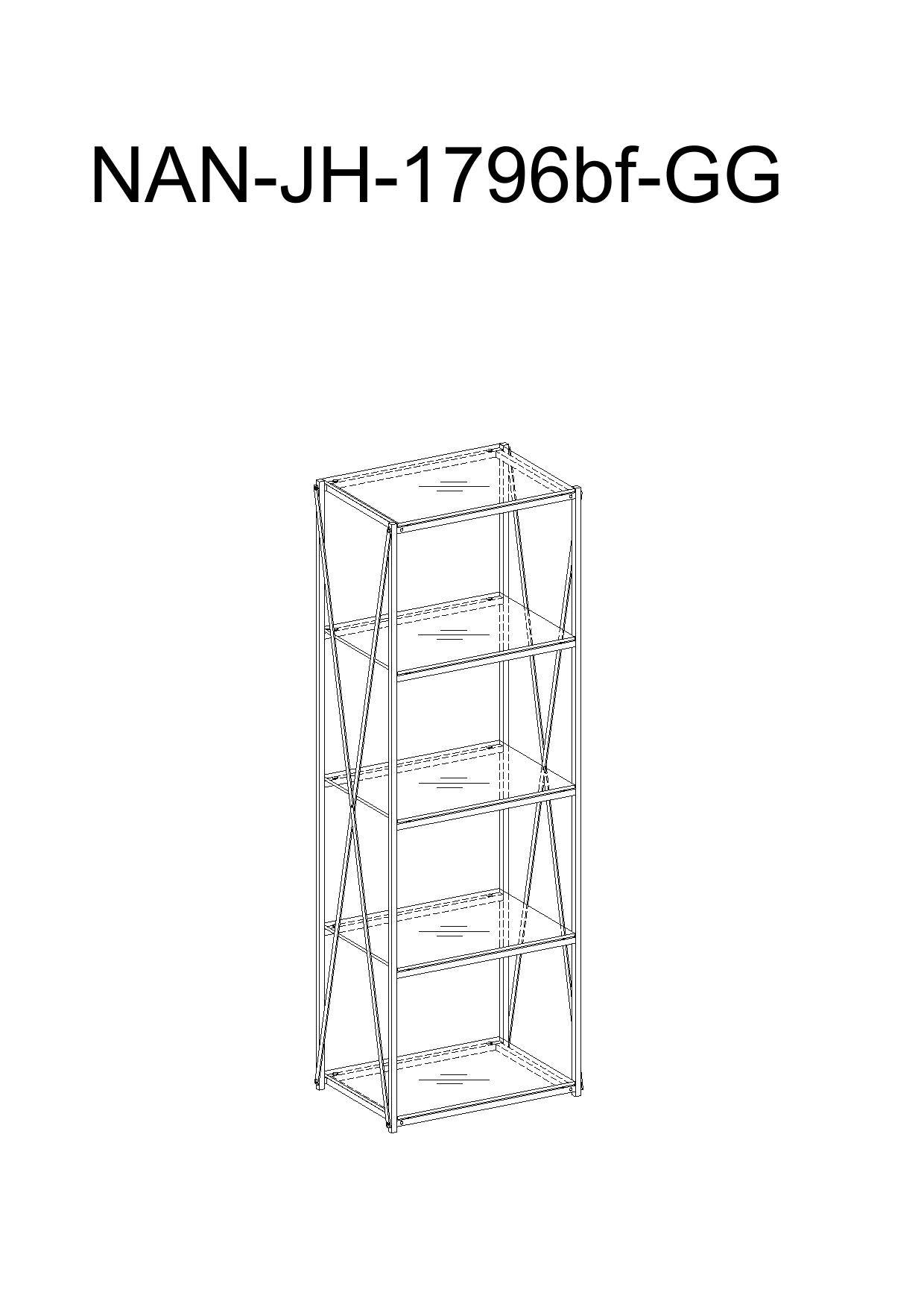 Flash Furniture NAN-JH-1796BF-GG Bookcase User Guide