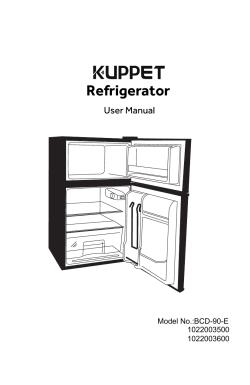 KUPPET Retro Mini Refrigerator 2-Door Compact Refrigerator