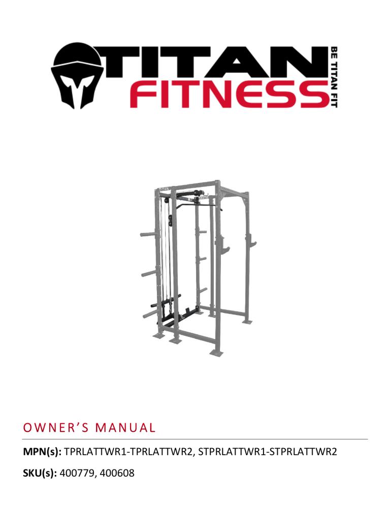 titan fitness power rack lat tower