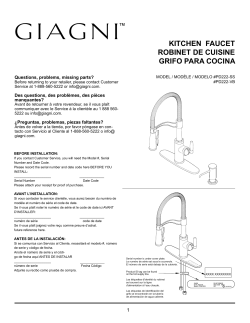 giagni pd222 ss installation guide