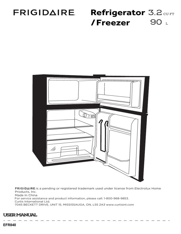 Frigidaire EFR840-BLACKCOM, EFR840-RED-COM User manual
