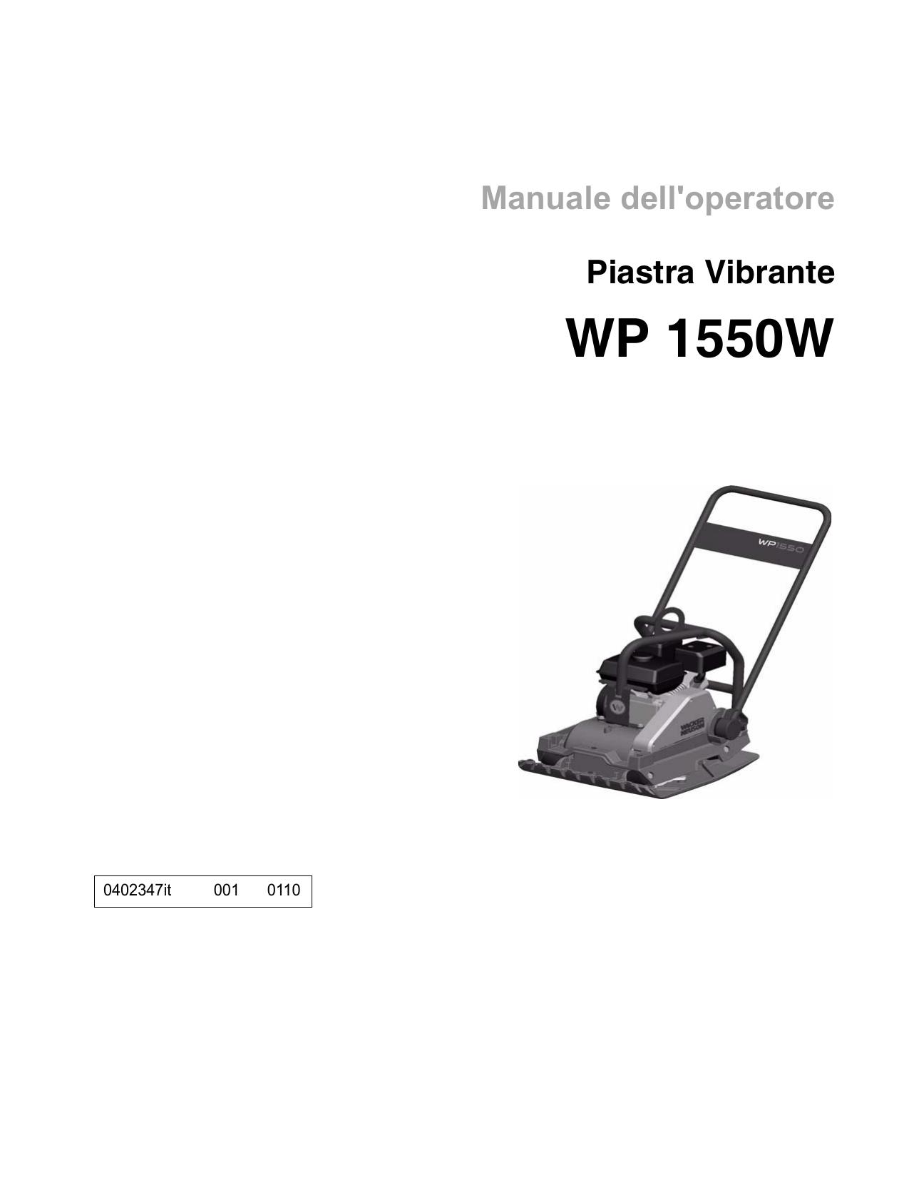 Wacker Neuson WP1550W Single direction Vibratory Plate