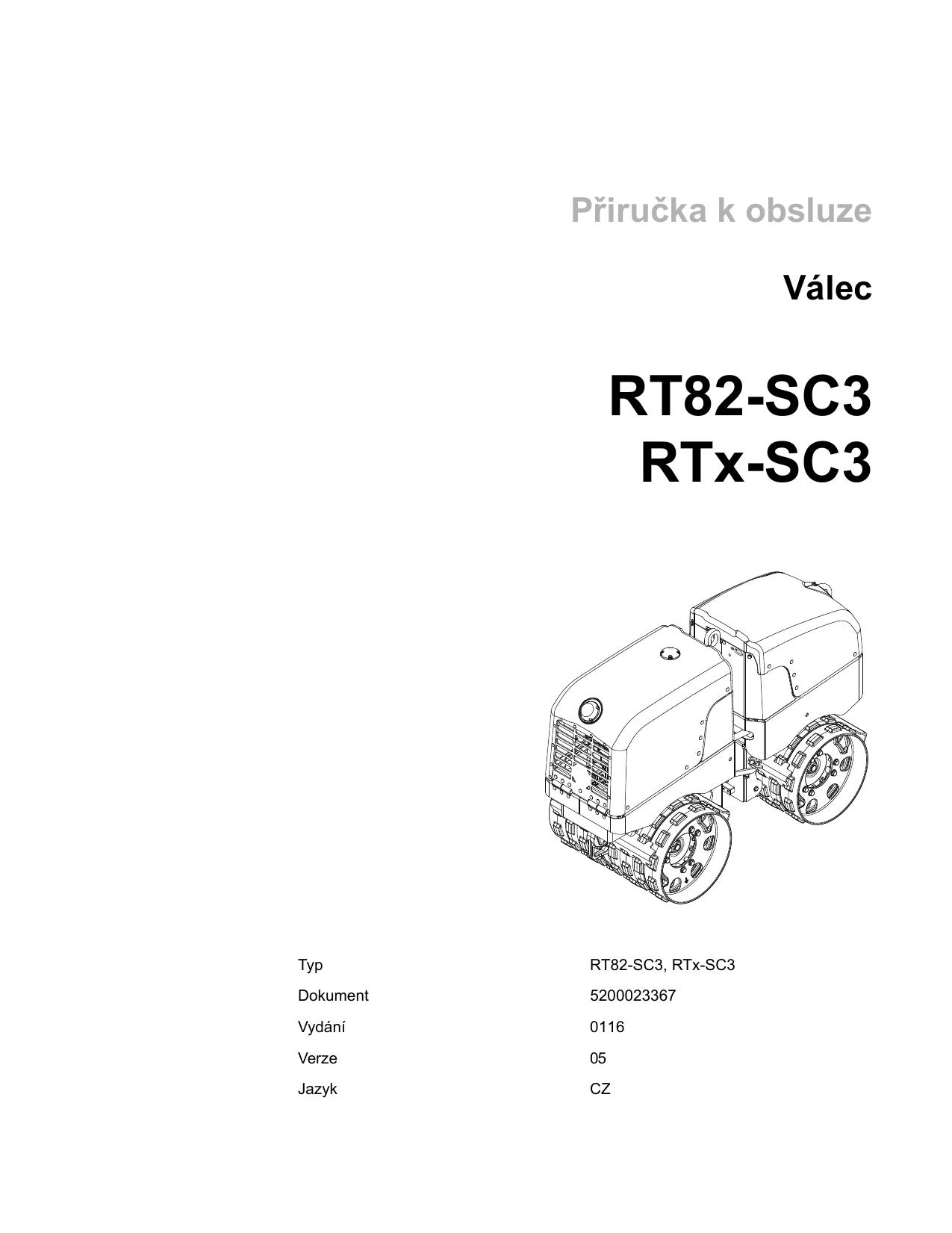 Wacker Neuson RTK82-SC3, RTKx-SC3, RTL82-SC3, RTLx-SC3
