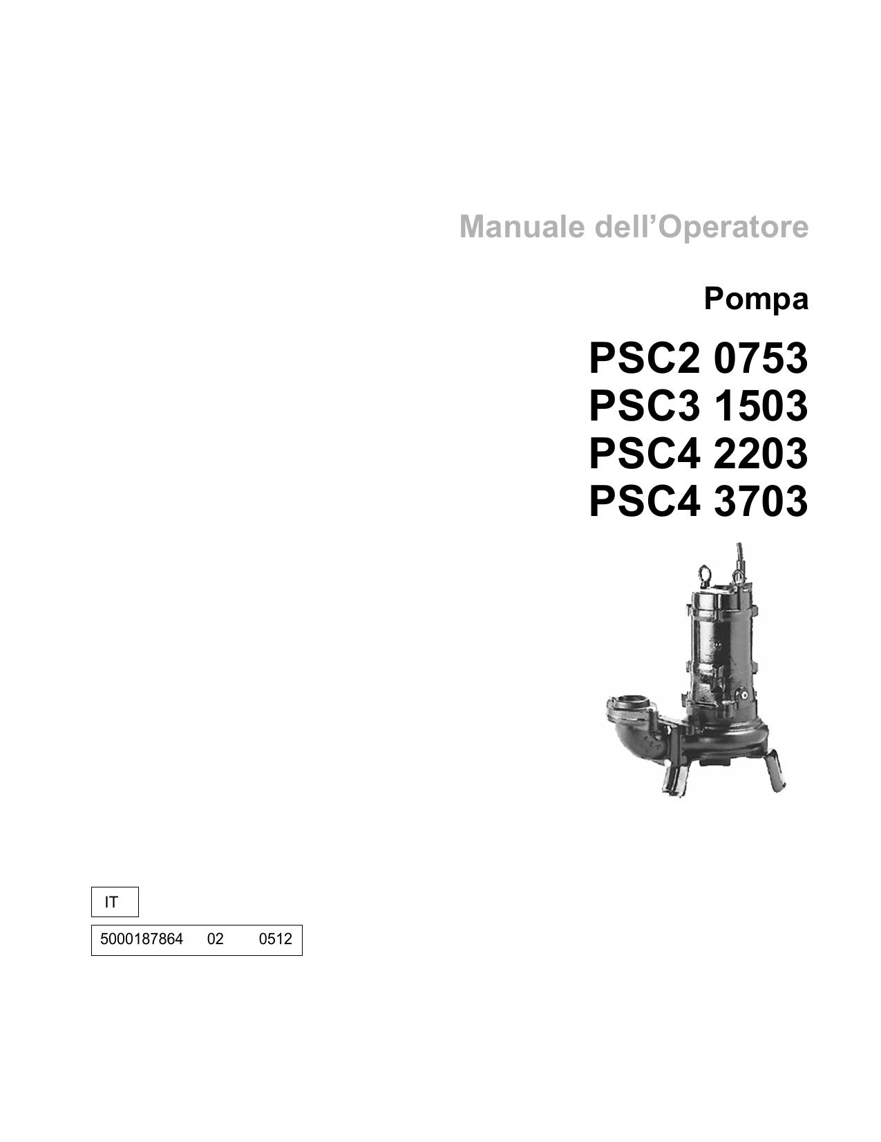 Wacker Neuson PSC20753, PSC31503, PSC42203, PSC43703 User