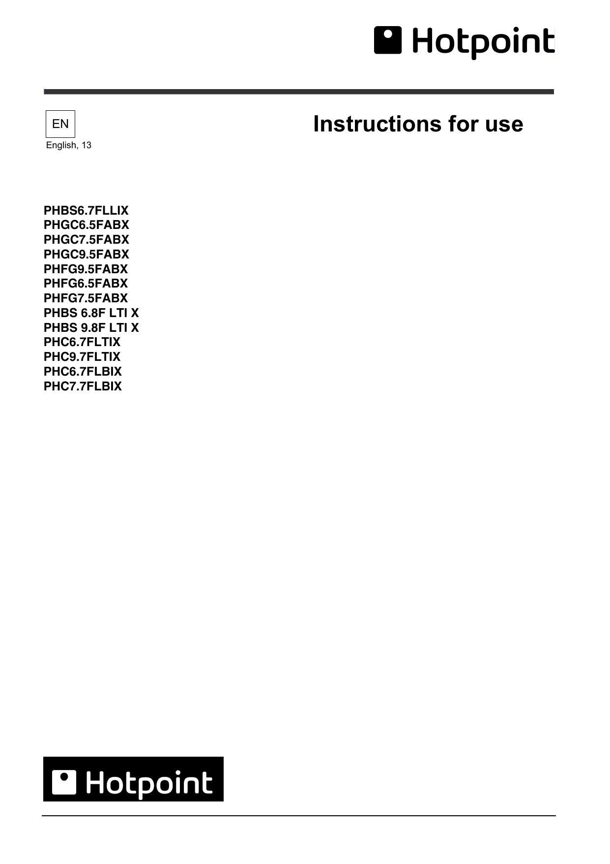 Lamona HHP2800 Hotpoint PHBS9.8CLTDK 90cm Black T-Box