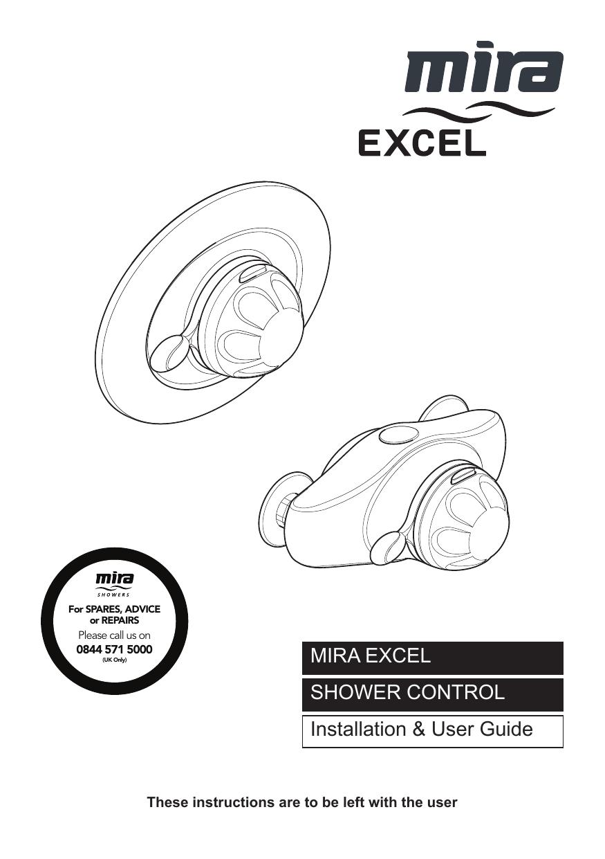 Mira Excel Mixer shower Built-In Valve Only Installation