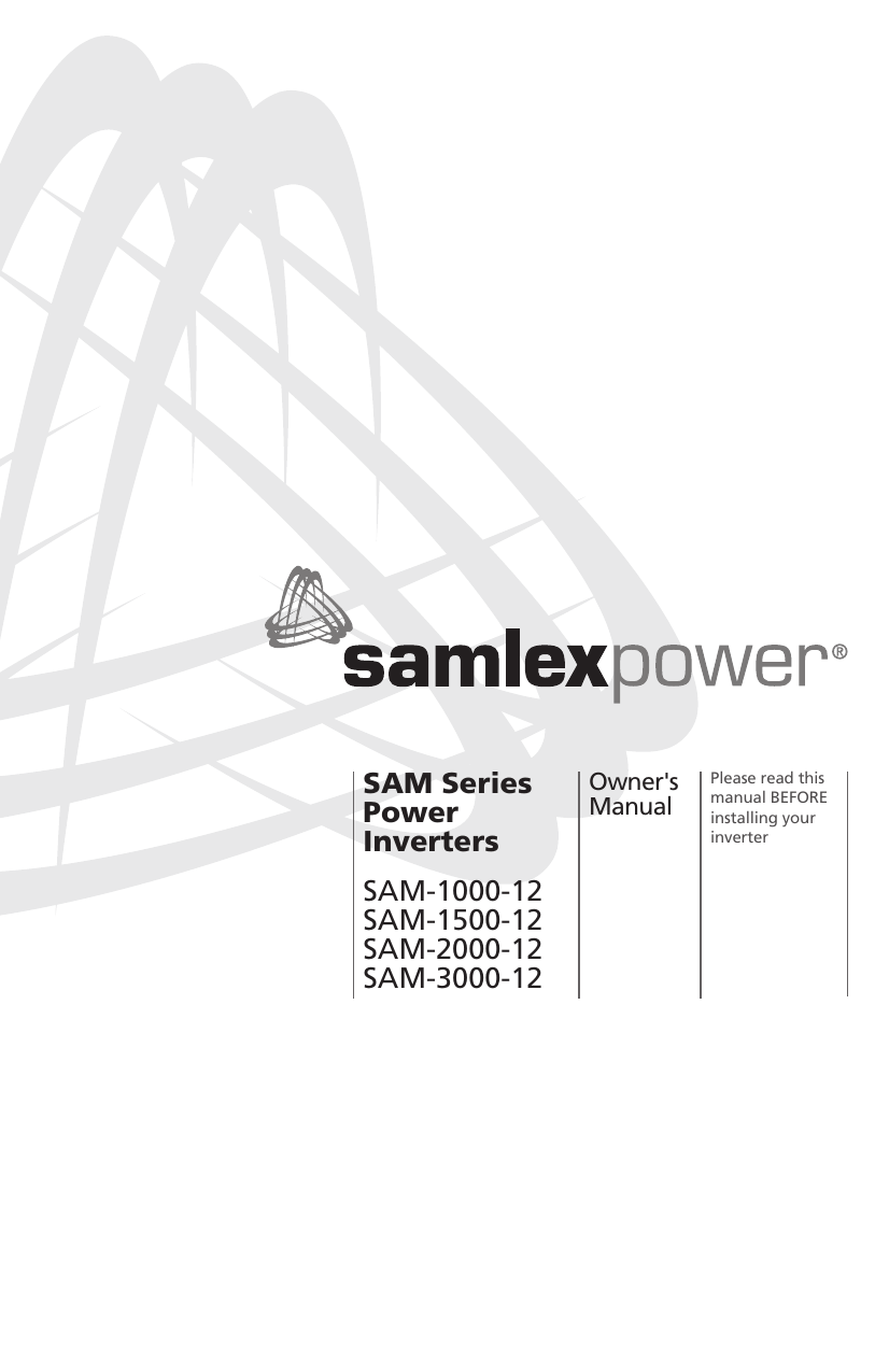 Samlexpower SAM-3000-12 3000 Watt Modified Sine Wave