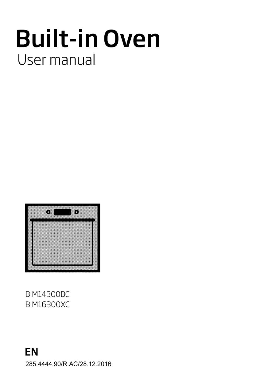 Beko BIM14300BC Single Built In Electric Oven User manual