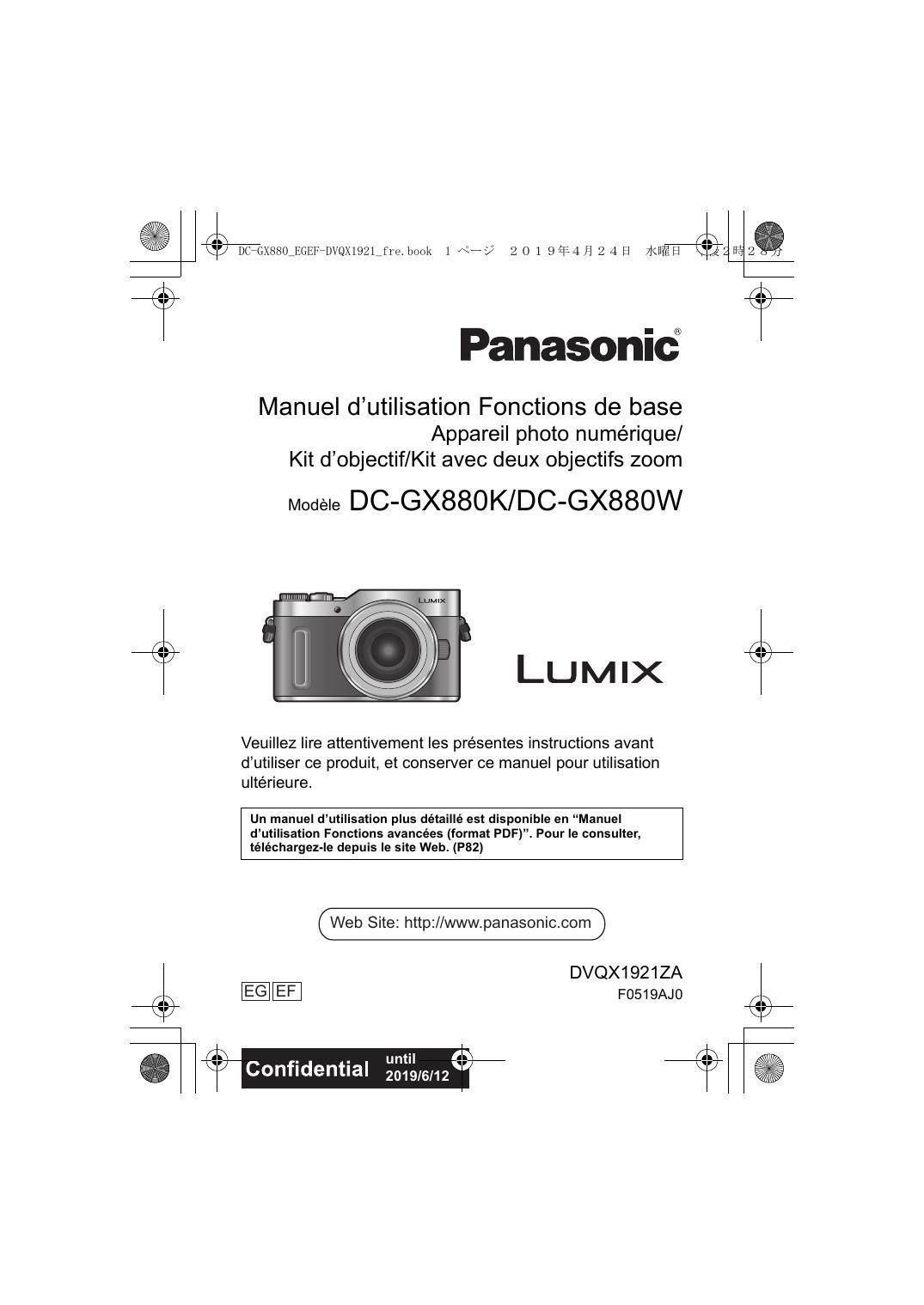Les Bases De La Photographie Pdf : bases, photographie, Panasonic, GX880, Manual, Manualzz