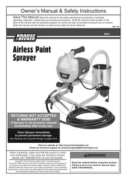 Krause And Becker Airless Sprayer : krause, becker, airless, sprayer, KRAUSE, BECKER, 62915, Owner's, Manual,, Quick, Start, Guide