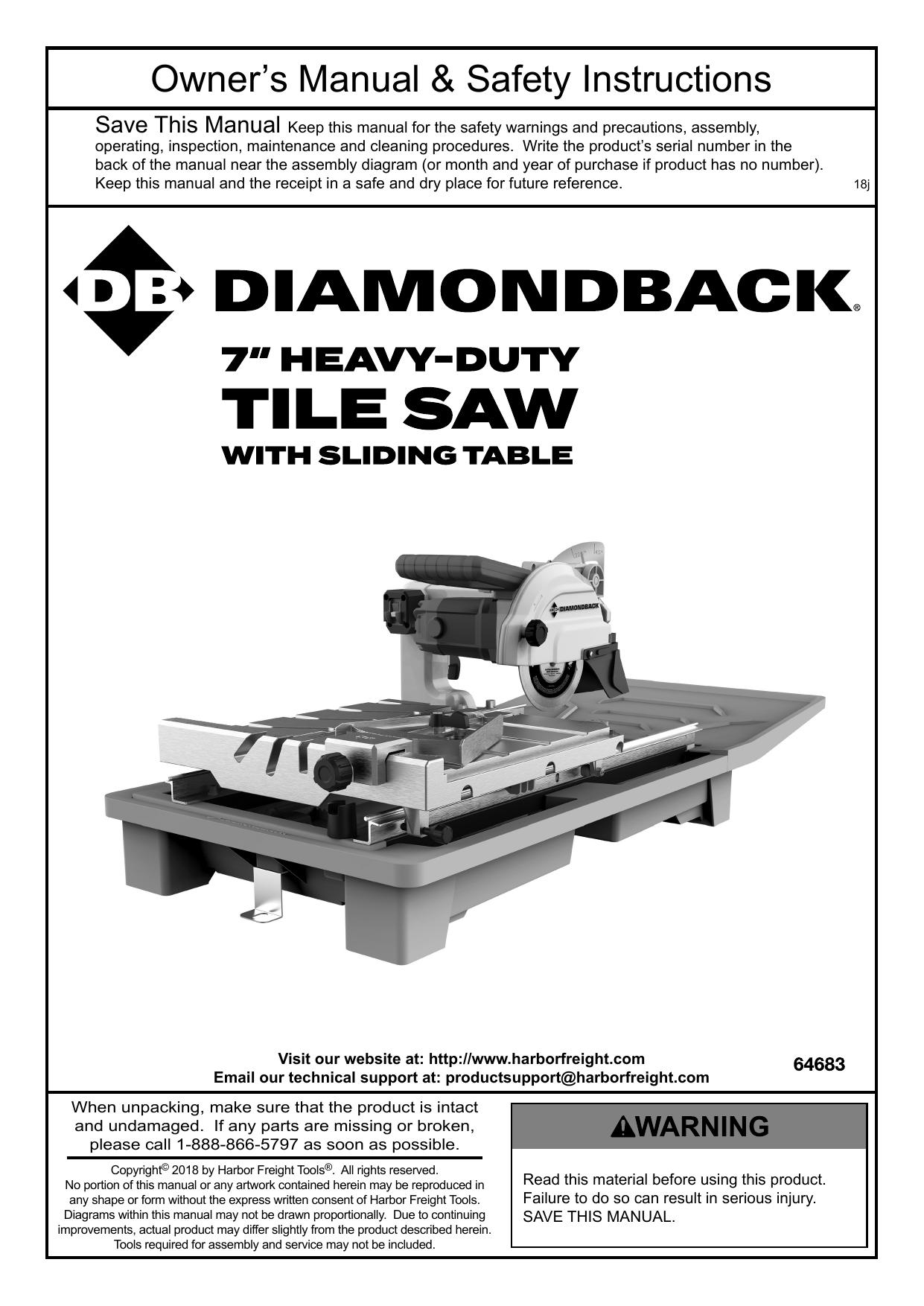diamondback 64683 item 64683 owner s