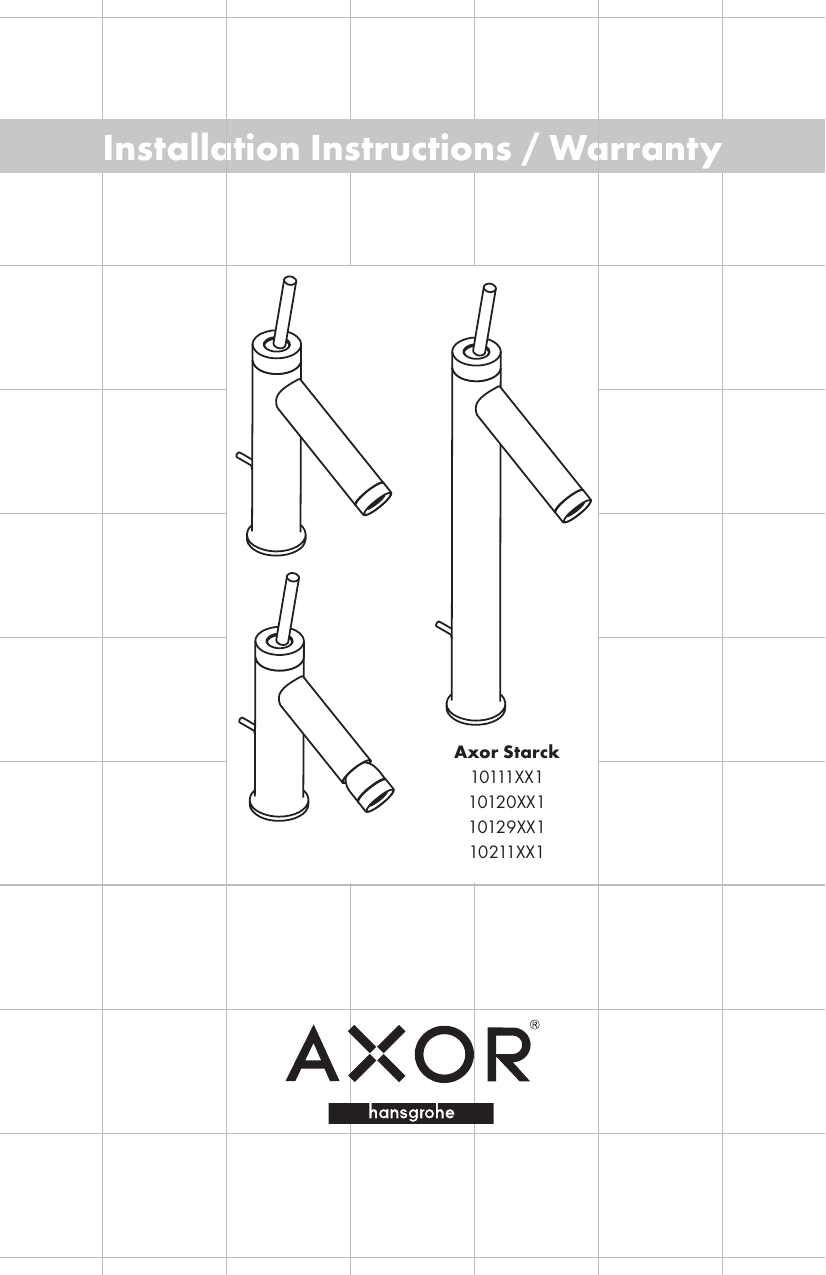 AXOR 10120001 Starck 1.5 gpm 1-Hole Bathroom Faucet