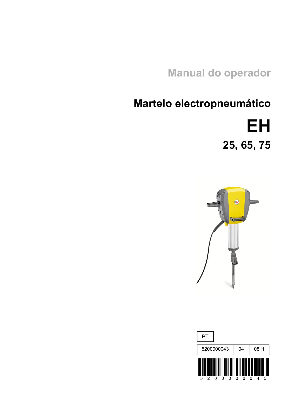 Wacker Neuson EH 75/240V Electric Breaker Manual do
