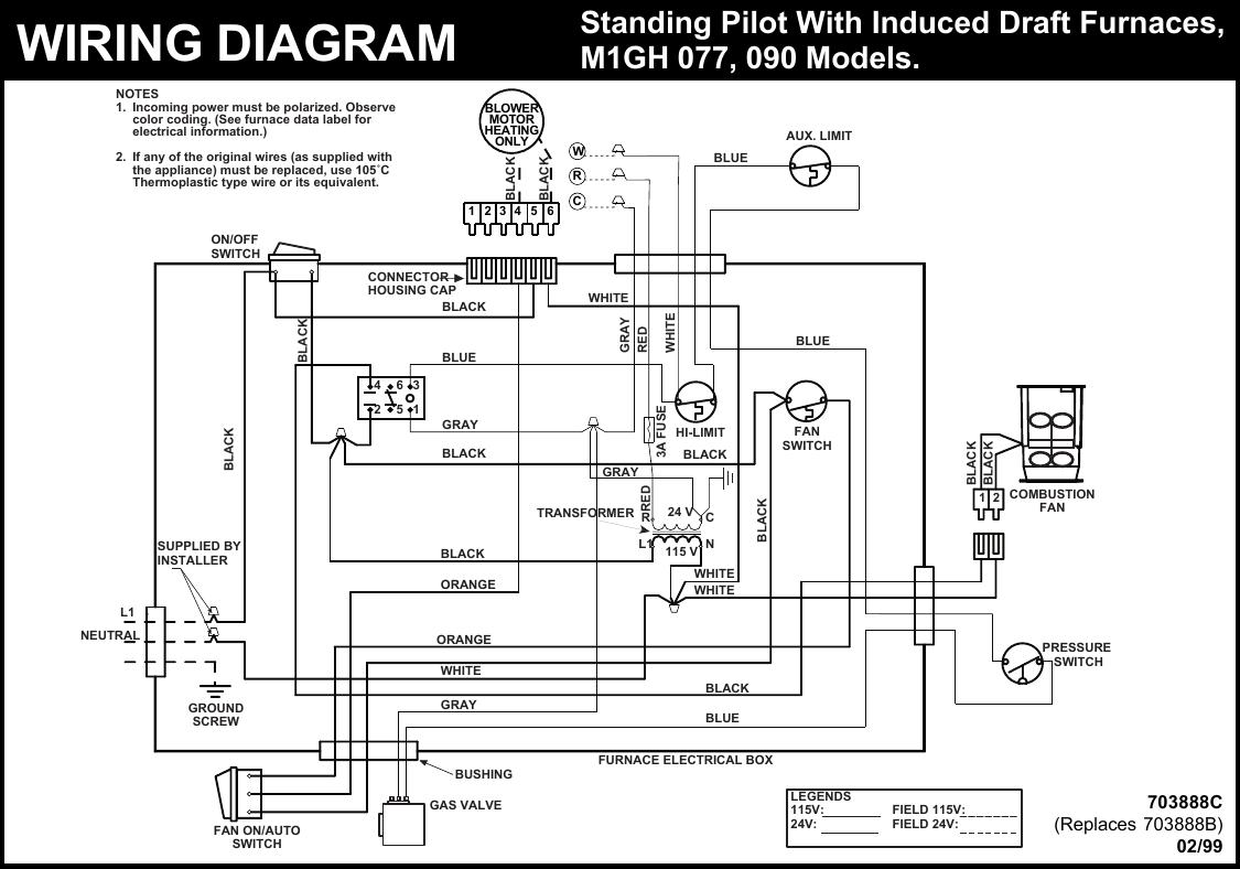 Intertherm Wiring Schematics : Intertherm 1100 Series